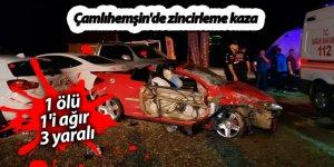Çamlıhemşin'de zincirleme kaza: 1 ölü, 1'i ağır 3 yaralı