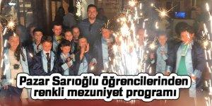 Pazar Sarıoğlu öğrencilerinden renkli mezuniyet programı