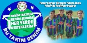 Pazar Çaykur Rizespor futbol okulu Pazar'da faaliyete başladı
