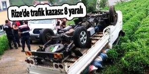 Rize'de trafik kazası: 8 yaralı