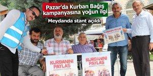 Pazar'da Kurban Bağış Kampanyasına yoğun ilgi