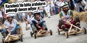 Karadeniz'de tahta arabaların geleneği devam ediyor