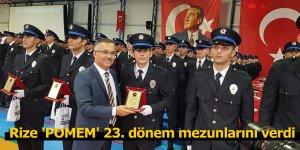 Rize 'POMEM' 23. dönem mezunlarını verdi