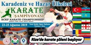 Rize'de karate şöleni başlıyor