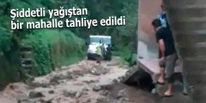 Şiddetli yağıştan bir mahalle tahliye edildi