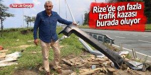 Rize'de en fazla trafik kazası burada oluyor