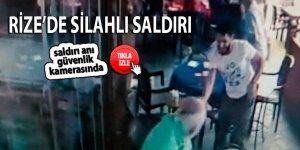 Rize'de silahlı saldırı: 1 yaralı