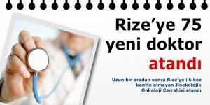 Rize'ye 75 yeni doktor atandı