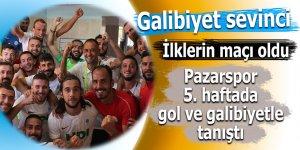 Pazarspor 5. haftada gol ve galibiyetle tanıştı