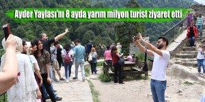 Ayder Yaylası'nı 8 ayda yarım milyon turist ziyaret etti