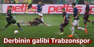 Rizespor öne geçtiği maçta Trabzonspor'a mağlup oldu