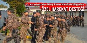 D. Karadeniz'den Barış Pınarı Harekatı bölgesine özel harekat desteği