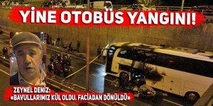 Yine yolcu otobüsü yangını! Faciadan dönüldü