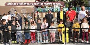 Rize'de okul öncesi çocuklar tenisle tanıştı
