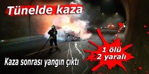 Tünelde kaza: 1 ölü, 2 yaralı