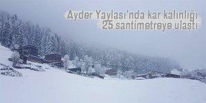 Ayder Yaylası'nda kar kalınlığı 25 santimetreye ulaştı