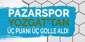 Pazarspor 3 puanı 3 golle aldı