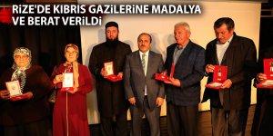 Rize'de Kıbrıs gazilerine madalya ve berat verildi