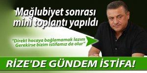 RİZE'DE GÜNDEM İSTİFA!