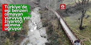 Türkiye'de eşi benzeri olmayan yürüyüş yolu ziyaretçi akınına uğruyor