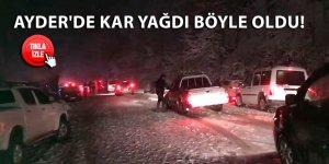 Ayder'de kar yağdı böyle oldu!