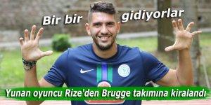 Yunan oyuncu Rize'den Brugge takımına kiralandı