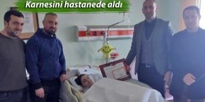 Karnesini hastanede aldı