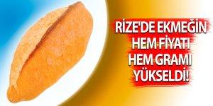 Rize'de ekmeğin hem fiyatı hem gramı yükseldi!