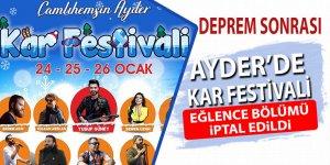 Ayder'deki festivalin eğlence bölümü iptal edildi