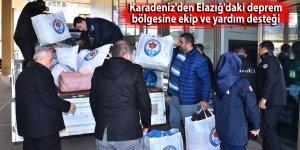 Karadeniz'den Elazığ'daki deprem bölgesine ekip ve yardım desteği