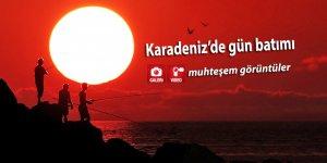 Karadeniz'de gün batımını hiç böyle görmediniz