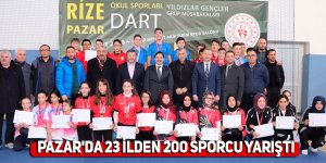 Pazar'da 23 ilden 200 sporcu yarıştı