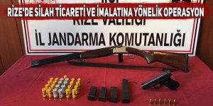Rize'de silah ticareti ve imalatına yönelik operasyon