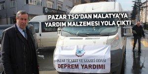 Pazar TSO'dan Malatya'ya yardım malzemesi yola çıktı