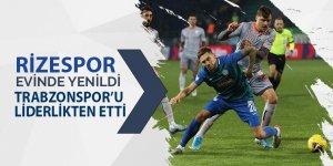 Rizespor evinde yenildi, Trabzonspor liderlikten oldu