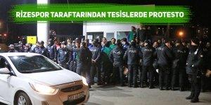 Rizespor taraftarından tesislerde protesto
