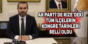 AK Parti'de Rize'deki tüm ilçelerin kongre tarihleri belli oldu