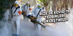 Rize'de Kovid-19 tedbirleri sıklaştırıldı