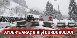 Ayder Yaylası, çalışmalar nedeniyle araç trafiğine kapatıldı