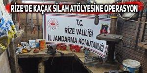 Rize'de kaçak silah atölyesine operasyon: 1 gözaltı