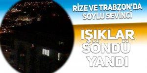Rize ve Trabzon'da Soylu sevinci