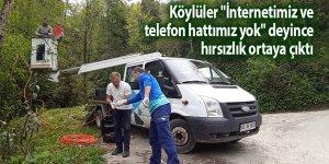 """Köylüler """"İnternetimiz ve telefon hattımız yok"""" deyince hırsızlık ortaya çıktı"""