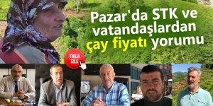 Pazar'da STK ve vatandaşlardan çay fiyatı yorumu