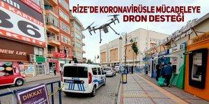 Rize'de koronavirüsle mücadeleye dron desteği