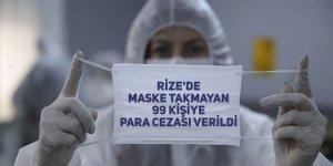 Rize'de maske takmayan 99 kişiye para cezası verildi