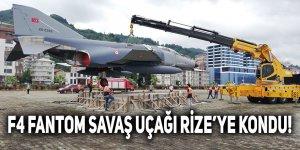 F4 FANTOM SAVAŞ UÇAĞI RİZE'YE KONDU!