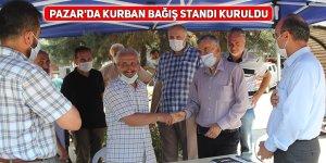 Pazar'da Kurban Bağış standı kuruldu