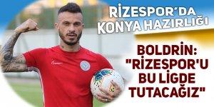 Rizespor, Konyaspor maçı hazırlıklarını sürdürdü