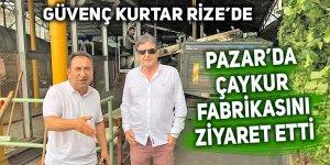 Güvenç Hoca Pazar'da Çaykur fabrikasına hayran kaldı