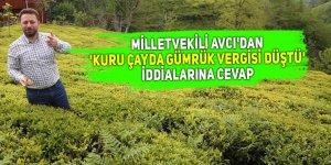 Avcı'dan 'Kuru çayda gümrük vergisi düştü' iddialarına cevap